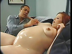 Lil' Preggo Scarlette Gets Fucked And Facialed