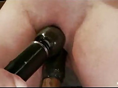 Tied busty redhead pussy toyed