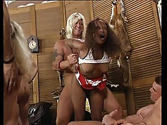 German Swinger Group with Ebony Support