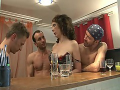 hard group fuck with french milf